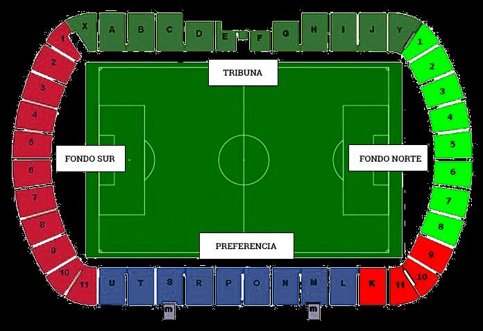 Estadio A Malata Gradas
